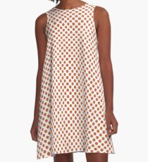 Harvest Pumpkin Polka Dots A-Line Dress