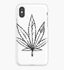 kiffen marihuana blatt design  iPhone Case/Skin