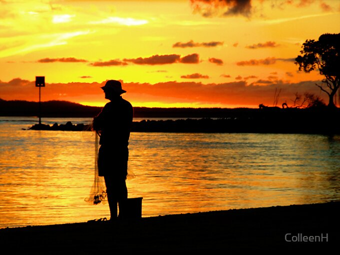 Fisherman Sunset by ColleenH