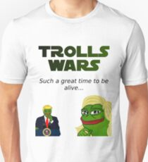 Trolls Wars -Trump and Le Pen T-Shirt