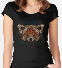 Red Panda Face Women's Fitted Scoop T-Shirt