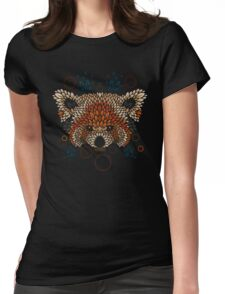 Red Panda Face Womens Fitted T-Shirt