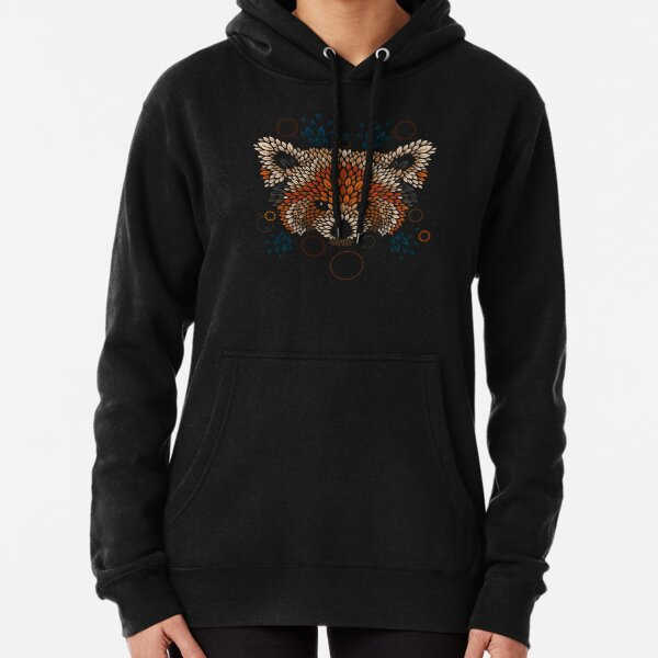 Red Panda Face Pullover Hoodie