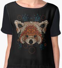 Red Panda Face Chiffon Top
