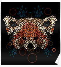 Red Panda Face Poster