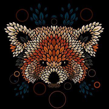 Red Panda Face de Letter-Q