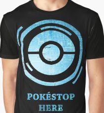 POKÉSTOP HERE - Mystic Version Graphic T-Shirt