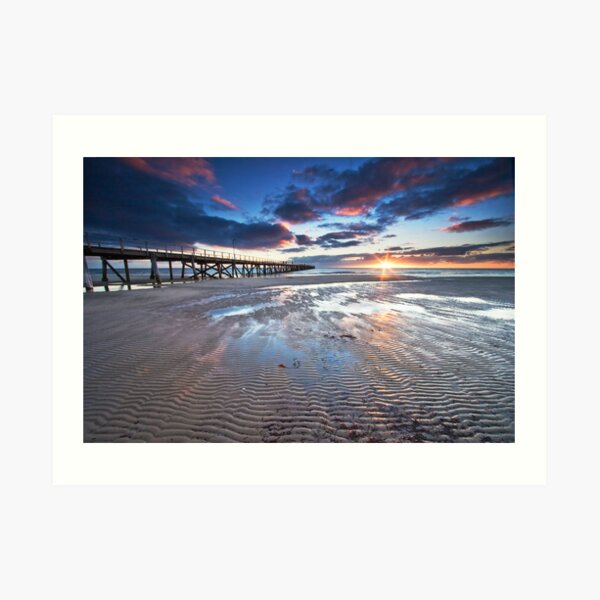 Semaphore Sunset Art Print