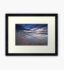 Semaphore Sunset Framed Print