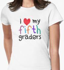 I Heart My Fifth Graders Teacher Love Womens Fitted T-Shirt
