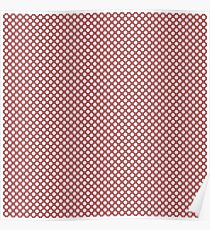 Dusty Cedar and White Polka Dots Poster