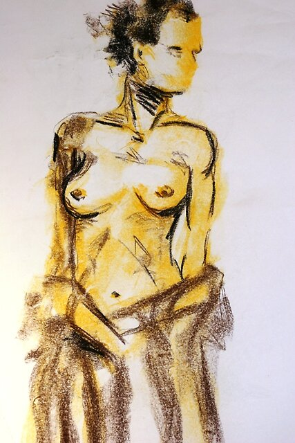 Life Drawing by Melissa Jayne Curtis