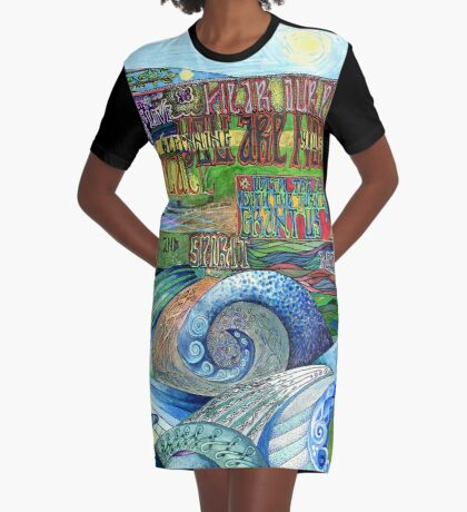 Graceful Trinity Graphic T-Shirt Dress