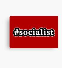 Socialist - Hashtag - Black & White Canvas Print