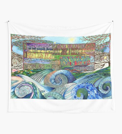 Graceful Trinity Wall Tapestry