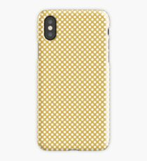 Spicy Mustard and White Polka Dots iPhone Case/Skin