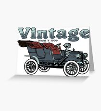 Vintage Car Model T 1906 - Retro Automobile Vehicle Lovers Design Greeting Card