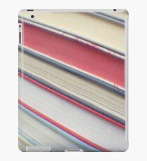 Diagonal red books iPad Case/Skin