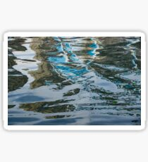 Capricious Liquid Abstracts - Silky Lines and Zigzags Sticker