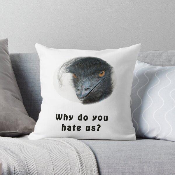 Schwarzer Power Emu Dekokissen