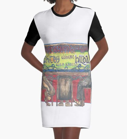 Abbess Hilda and the Synod of Whitby Graphic T-Shirt Dress