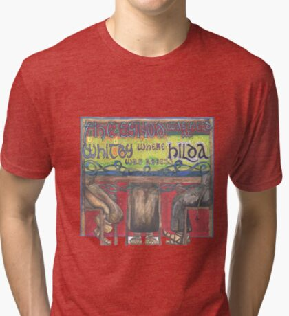 Abbess Hilda and the Synod of Whitby Tri-blend T-Shirt