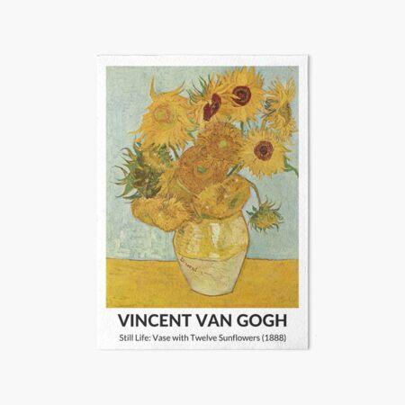 Vincent's sunflowers Art Board Print