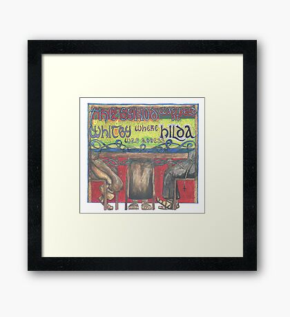 Abbess Hilda and the Synod of Whitby Framed Print