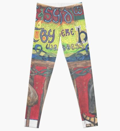 Abbess Hilda and the Synod of Whitby Leggings