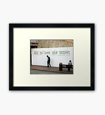 Living Framed Print