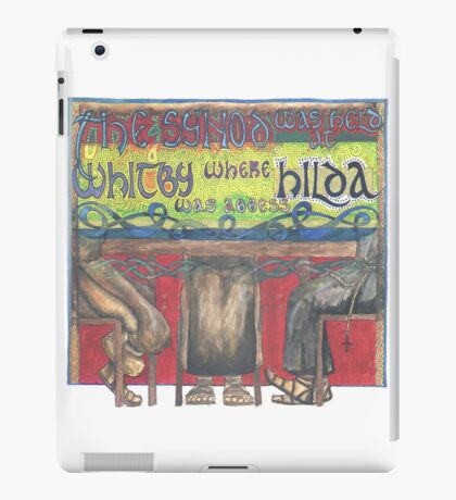 Abbess Hilda and the Synod of Whitby iPad Case/Skin