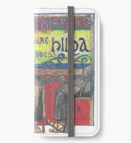 Abbess Hilda and the Synod of Whitby iPhone Wallet
