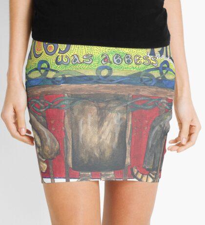 Abbess Hilda and the Synod of Whitby Mini Skirt