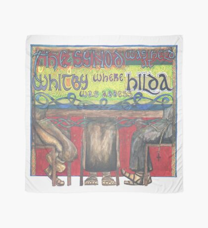 Abbess Hilda and the Synod of Whitby Scarf
