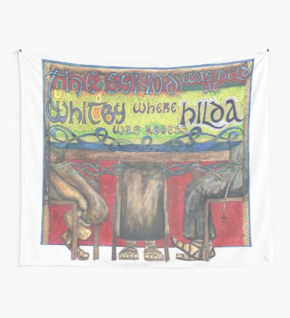 Abbess Hilda and the Synod of Whitby Wall Tapestry