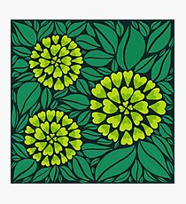 Green Spring Floral pattern Photographic Print