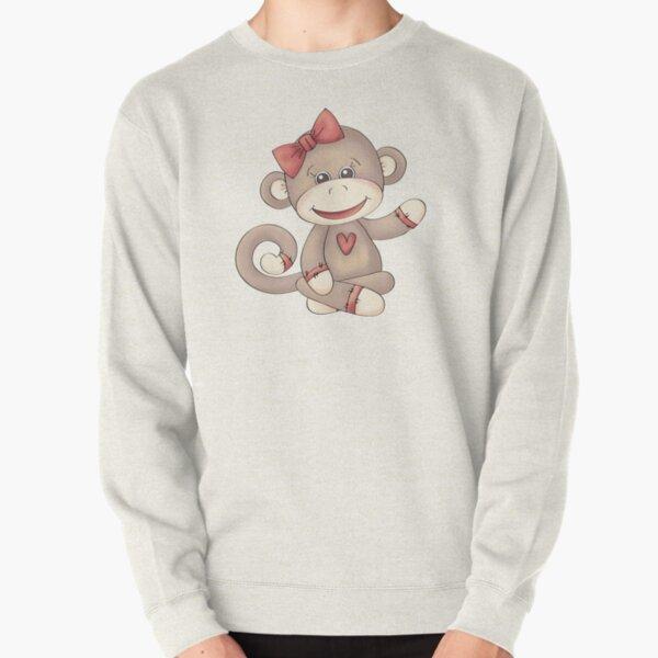 Baby Girl Sock Monkey Pullover Sweatshirt