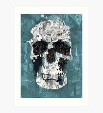 The Blue Skull of Baker Street Art Print