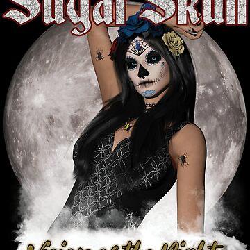 Sugar Skull Vision of the Night by futureimaging
