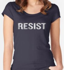 Resist Distressed Against Trump Politics Women's Fitted Scoop T-Shirt