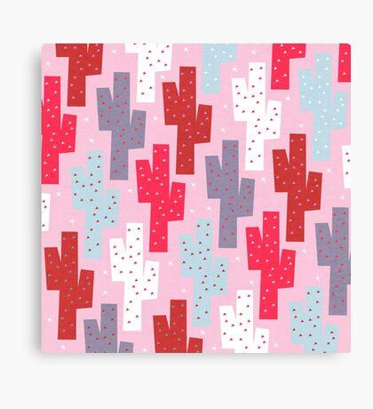 Sweet cactus pattern Canvas Print