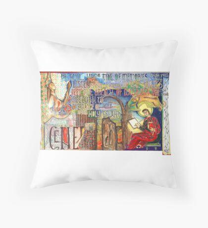 Holy Island Throw Pillow