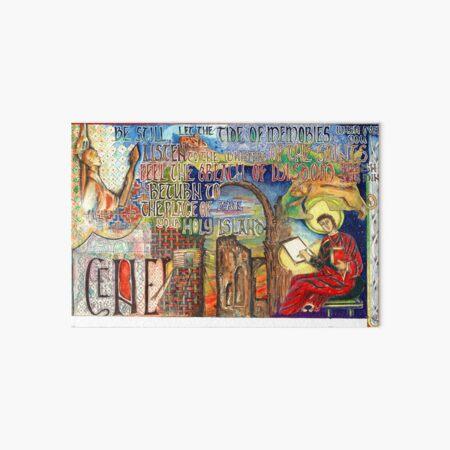 Holy Island Art Board Print