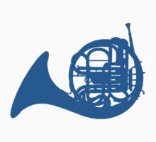 Blue French horn | Unisex T-Shirt