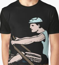 Vintage Rowing Athlete - Retro Sports Rower Drawing - Birthday Gift and T-Shirts Ideas Graphic T-Shirt