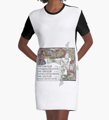 Home Blessing Graphic T-Shirt Dress