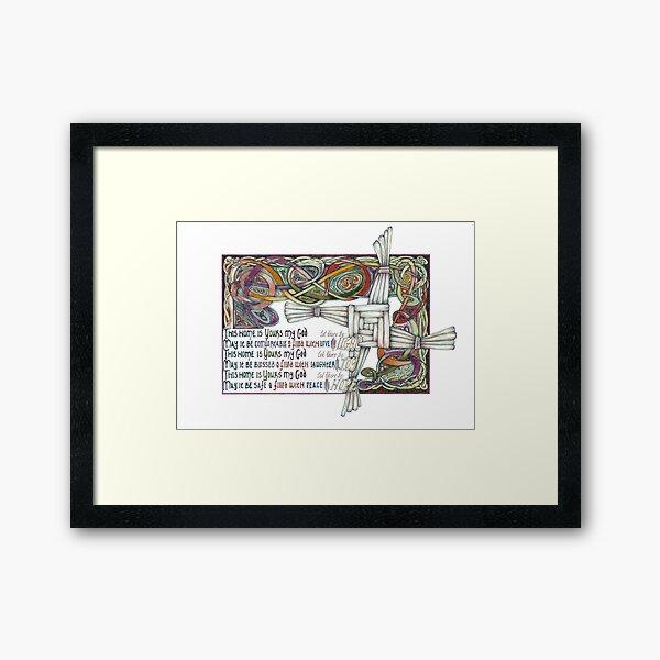Home Blessing Framed Art Print