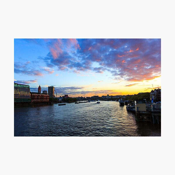 London at sunset Photographic Print
