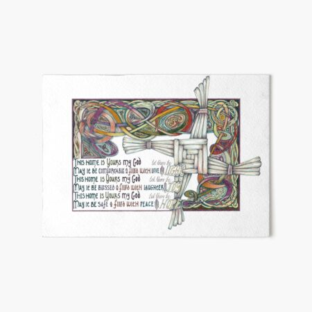 Home Blessing Art Board Print