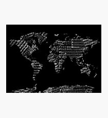 world map music notes 2 Photographic Print